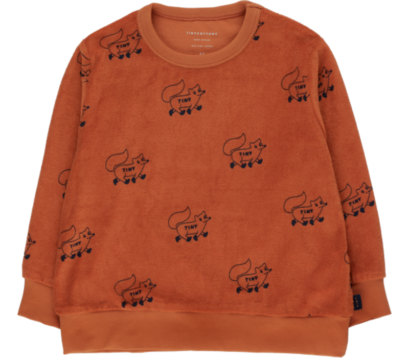"Tinycottons ""FOXES"" SWEATSHIRT sienna/navy"