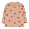 """Tinycottons Tinycottons """"HEARTS"""" TEE light nude/red"""