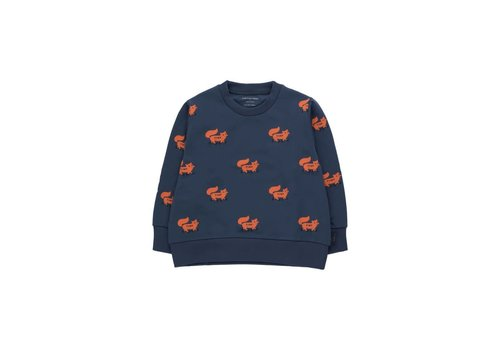 "Tinycottons Tinycottons ""FOXES"" SWEATSHIRT light navy/sienna"