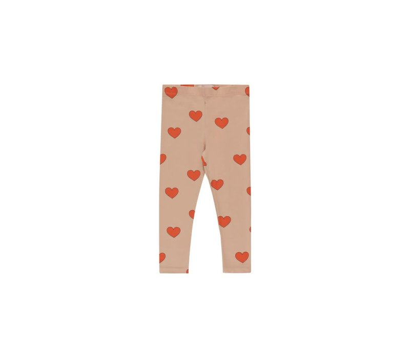 """Tinycottons """"HEARTS"""" PANT light nude/red"""