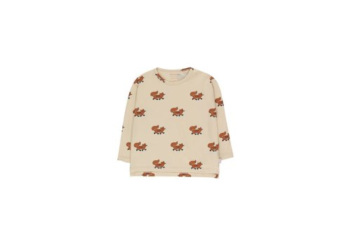 "Tinycottons Tinycottons ""FOXES"" TEE cream/brown"