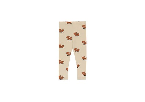 "Tinycottons Tinycottons ""FOXES"" PANT cream/brown"