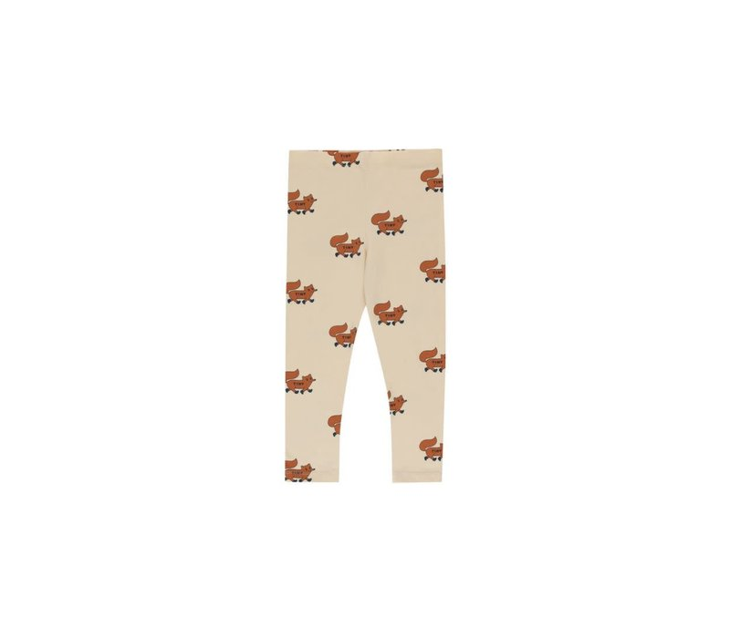 """Tinycottons """"FOXES"""" PANT cream/brown"""