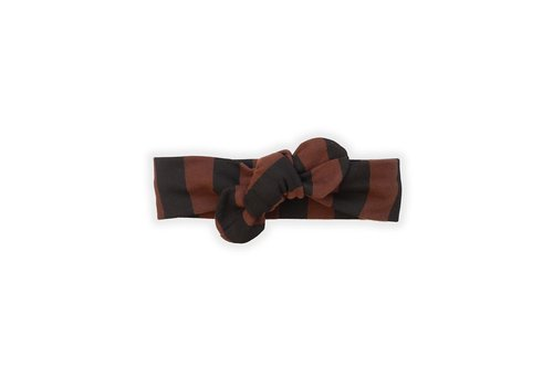 Sproet & Sprout Sproet & Sprout Headband Painted Stripe Chocolate