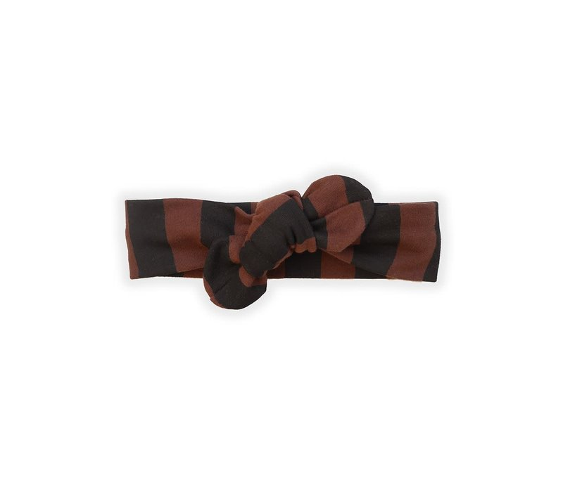 Sproet & Sprout Headband Painted Stripe Chocolate