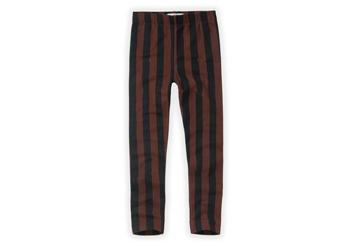 Sproet & Sprout Sproet & Sprout Pants Painted Stripe Chocolate Black / Chocolate