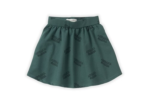 Sproet & Sprout Sproet & Sprout Skirt Abracadabra AOP Dusty Green