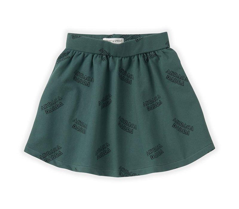 Sproet & Sprout Skirt Abracadabra AOP Dusty Green