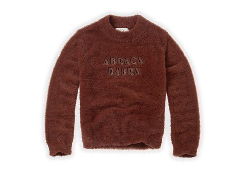Sproet & Sprout Sproet & Sprout Fuzzy Sweater Abracadabra Chocolate
