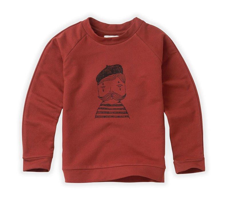 Sproet & Sprout Sweatshirt Raglan Pierrot Beet Maroon