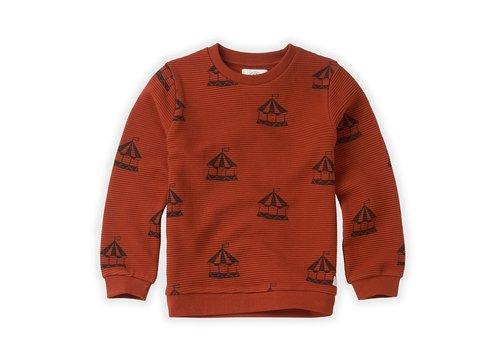 Sproet & Sprout Sproet & Sprout Sweatshirt Carousel AOP Copper Brown