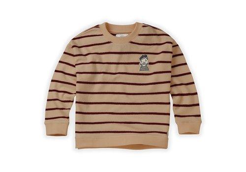 Sproet & Sprout Sproet & Sprout Sweatshirt Loose Stripe Nougat