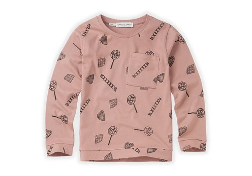 Sproet & Sprout Sproet & Sprout T-shirt Candy AOP Mauve
