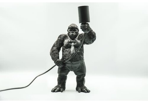 Holy Cow Gorilla Lamp zwart