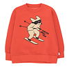"""Tinycottons Tinycottons """"SKIING DOG"""" SWEATSHIRT red/cappuccino"""