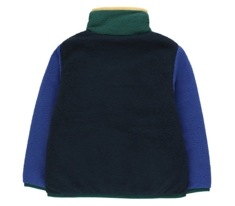 Tinycottons COLOR BLOCK POLAR JACKET navy/blue