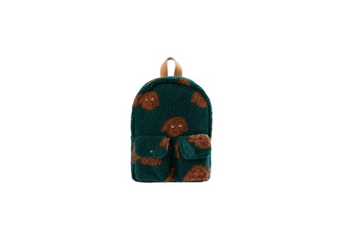 "Tinycottons Tinycottons ""TINY DOG"" SMALL SHERPA BACKPACK dark green/sienna"