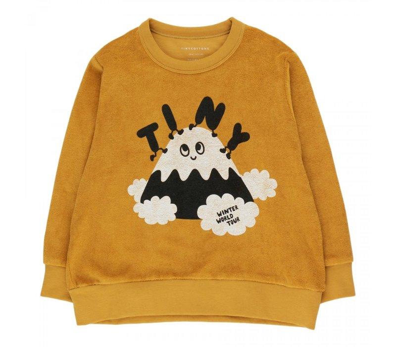 "Tinycottons ""TINY FUJI"" SWEATSHIRT mustard/navy"