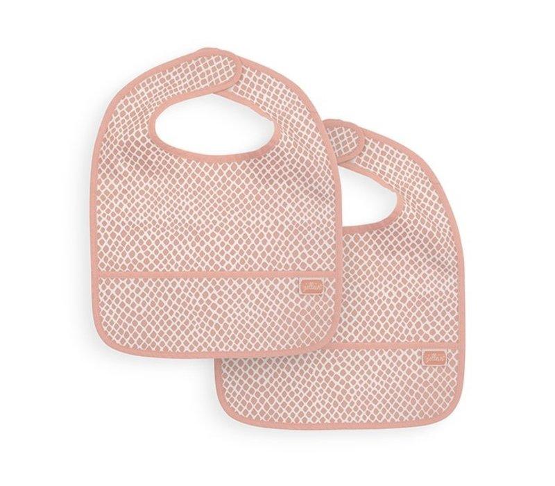 Jollein Slab waterproof Snake pale pink (2pack)