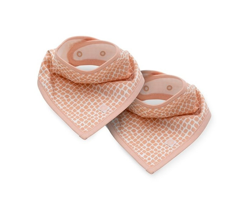 Jollein Slab bandana Snake pale pink (2pack)