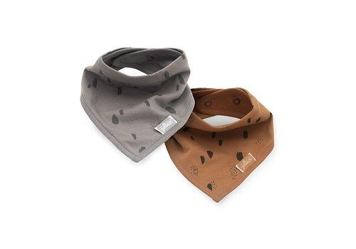 Jollein Jollein Slab bandana Spot storm grey/caramel (2pack)