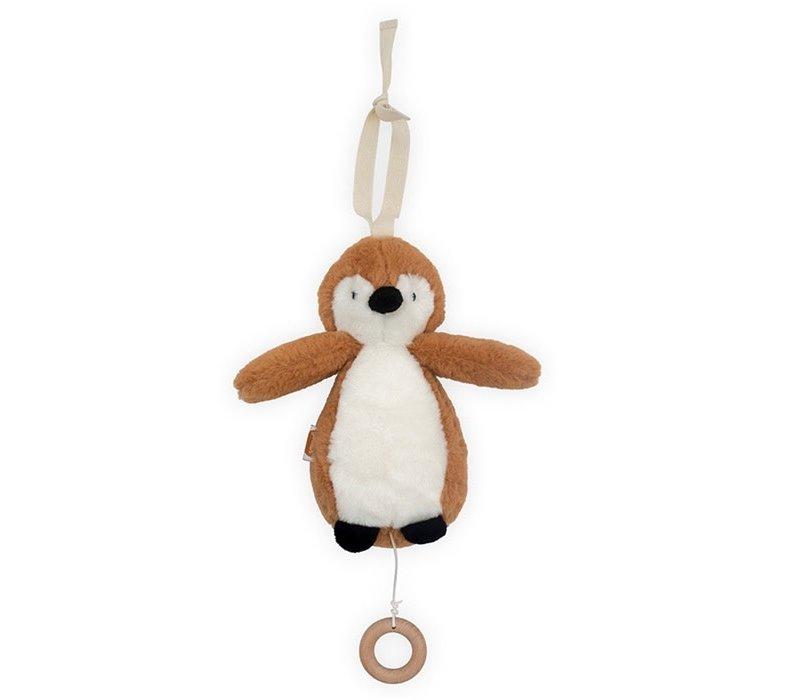 Jollein Muziekhanger Pinguin caramel