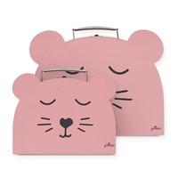 Jollein Speelkoffertje Animal club rouge (2pack)