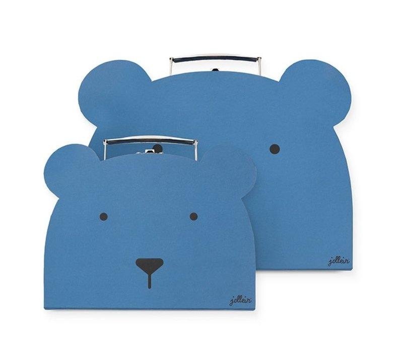 Jollein Speelkoffertje Animal club steel blue (2pack)