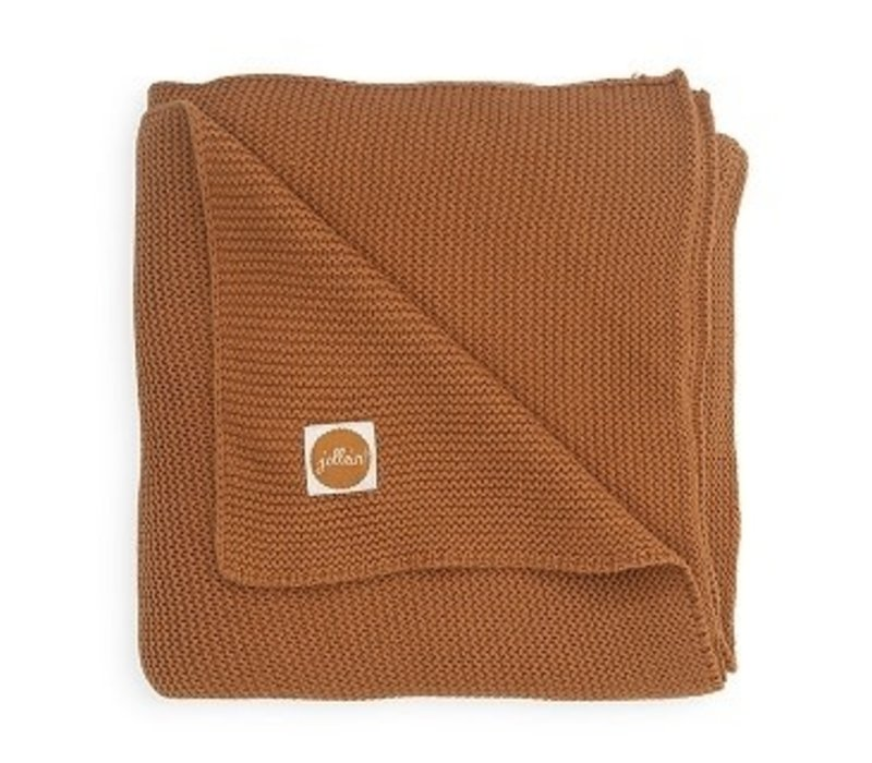 Jollein Deken 75x100cm Basic knit caramel