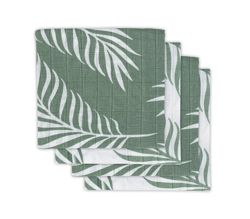 Jollein Hydrofiel multidoek small 70x70cm Nature ash green (4pack)