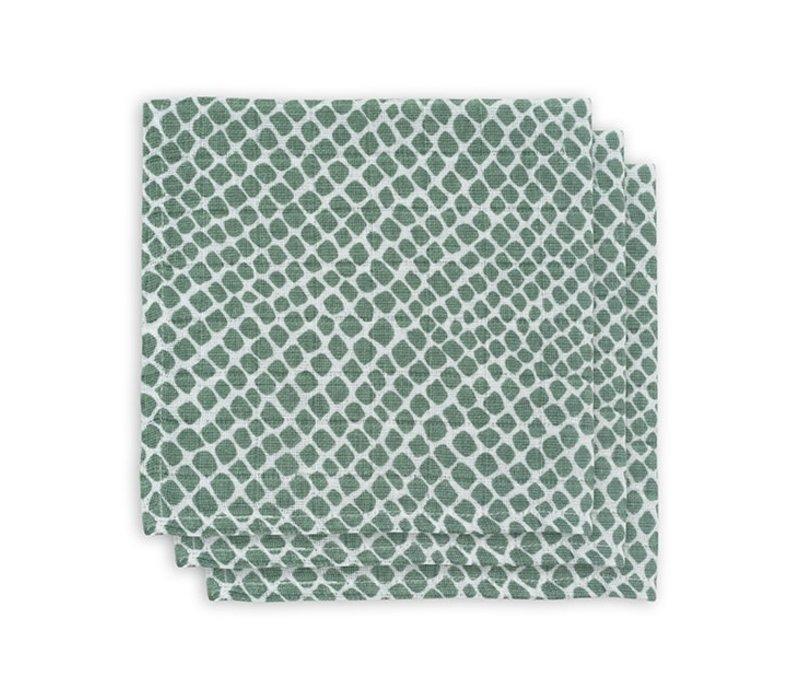 Jollein Monddoekje hydrofiel Snake ash green(3pack)