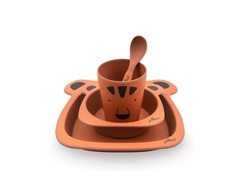 Jollein Jollein Dinnerset bamboe Animal club rust