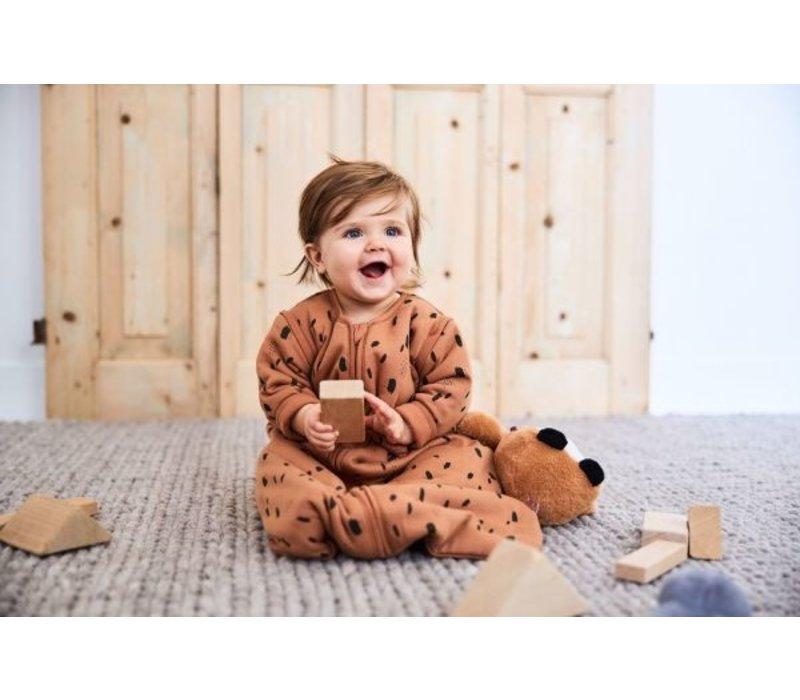 Jollien Baby slaapzak Spot caramel met afritsbare mouw