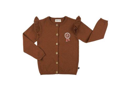 CarlijnQ CarlijnQ Rosette - cardigan wings + embroidery (knit)