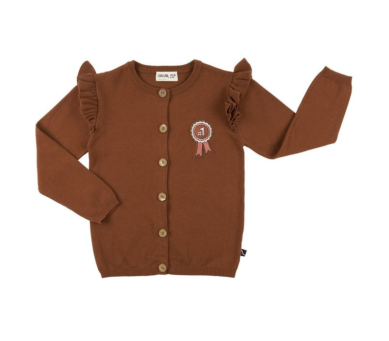 CarlijnQ Rosette - cardigan wings + embroidery (knit)