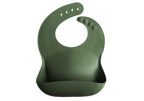 Mushie Mushie silicone slabbetje Forrest green