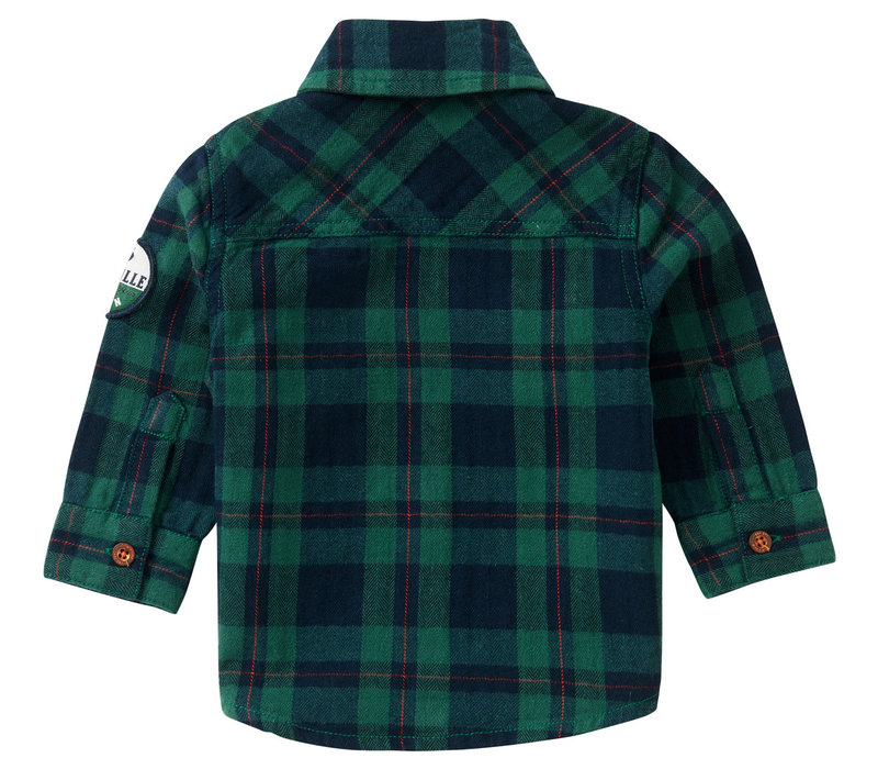 Noppies B Shirt LS Klipplaat Check Farm Green