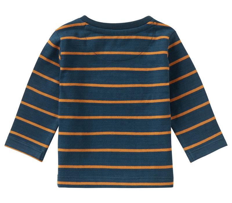 Noppies B T-Shirt LS Patensie Str Midnight Navy