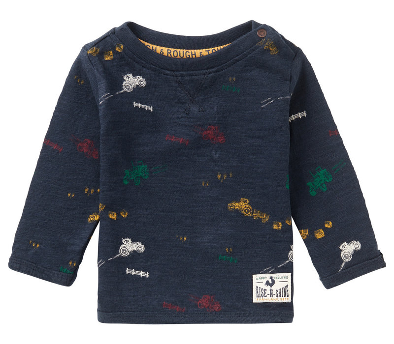 Noppies B T-Shirt LS Rietbron AOP Dark Sapphire