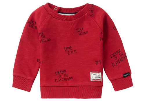 Noppies Noppies B Sweater LS Springs AOP Scarlet Sage