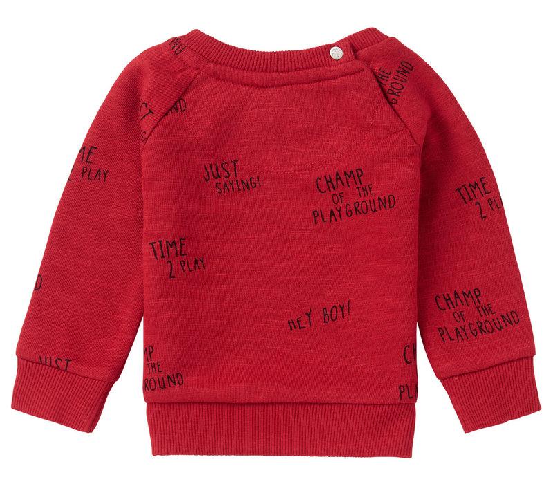 Noppies B Sweater LS Springs AOP Scarlet Sage