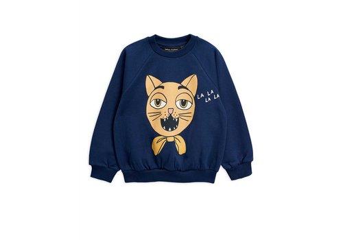 Mini Rodini Mini Rodini CAT CHOIR SP SWEATSHIRT blauw