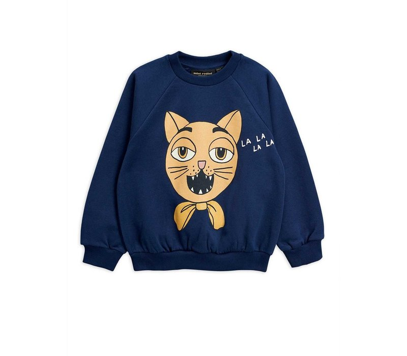 Mini Rodini CAT CHOIR SP SWEATSHIRT blauw