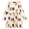 Mini Rodini Mini Rodini Cat Choir AOP LS Dress