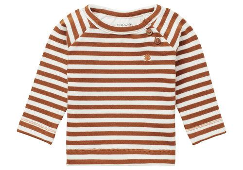 Noppies Noppies U Sweater Settle YD Str Roasted Pecan