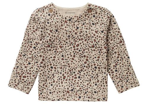 Noppies Noppies U T-shirt LS AOP Stanley Sand Melange