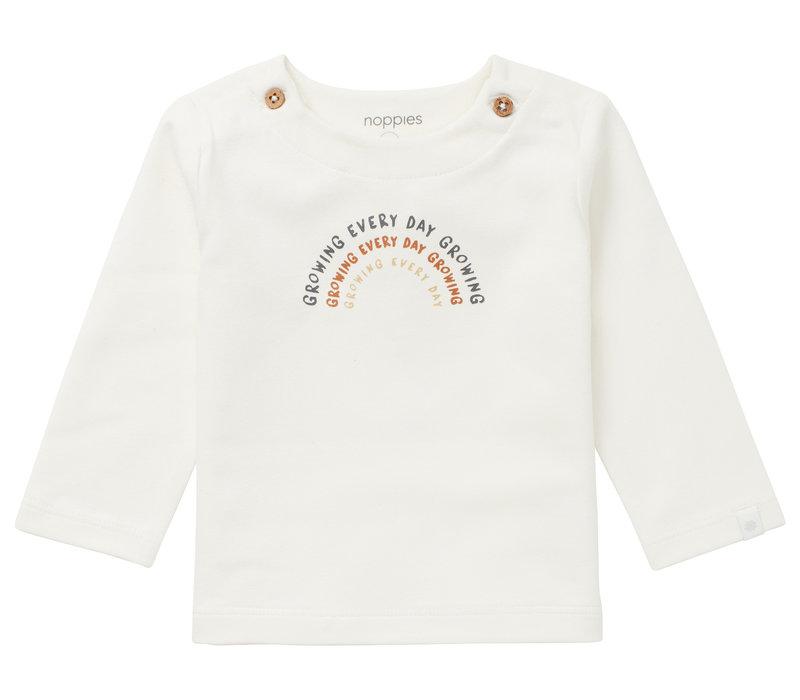 Noppies U T-shirt LS Shields Snow White