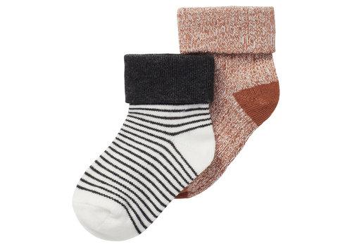 Noppies Noppies U Socks  2PK Saltash Roasted Pecan
