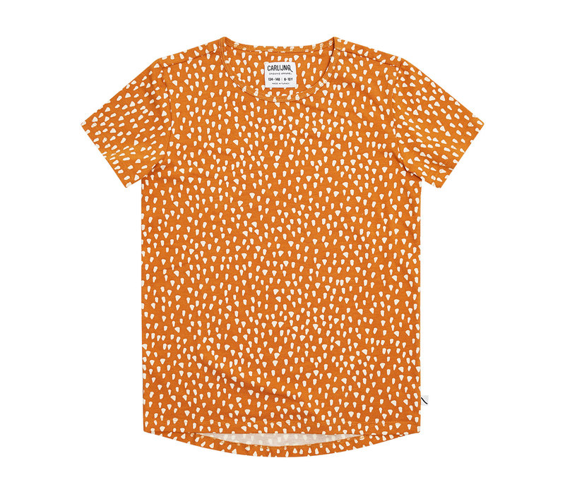CarlijnQ Golden Sparkles - short sleeve dropback