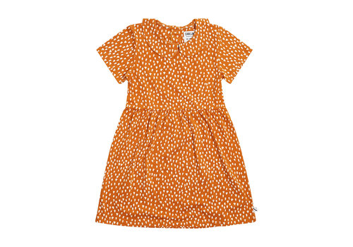 CarlijnQ CarlijnQ Golden Sparkles - collar dress short sleeves